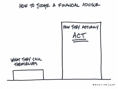 How to judge a financial advisor -  diagram.